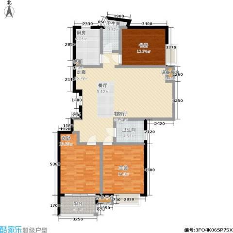金基月亮湾3室1厅2卫1厨149.00㎡户型图