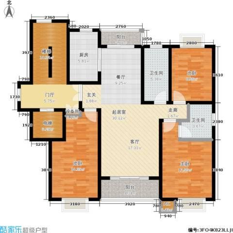 领秀江南花苑3室0厅2卫1厨121.00㎡户型图