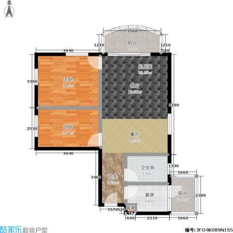 翠城花园2室0厅1卫1厨73.00㎡户型图