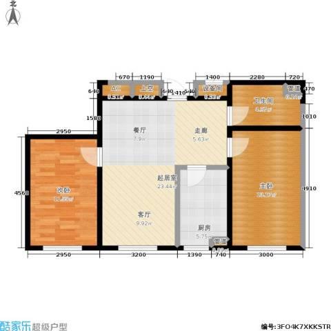 云华园二期2室0厅1卫1厨70.00㎡户型图