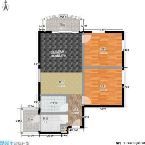 翠城花园2室0厅1卫1厨79.00㎡户型图