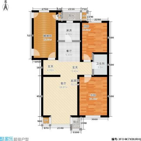 北美家园二、三期2室0厅1卫1厨79.93㎡户型图