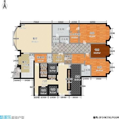 哈公馆3室1厅5卫1厨323.03㎡户型图