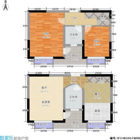 万科玲珑湾 玲珑湾2室0厅2卫0厨105.00㎡户型图