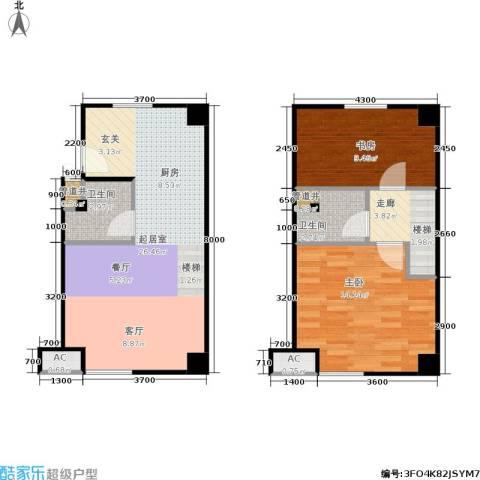 天启花园2室0厅2卫0厨61.63㎡户型图