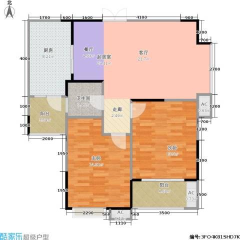天启花园2室0厅1卫1厨84.00㎡户型图