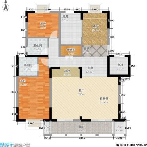 国信・阅景龙华2室0厅2卫1厨132.00㎡户型图