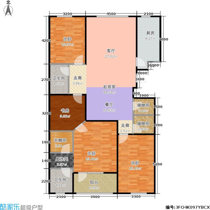 朗诗国际街区户型4室2卫1厨