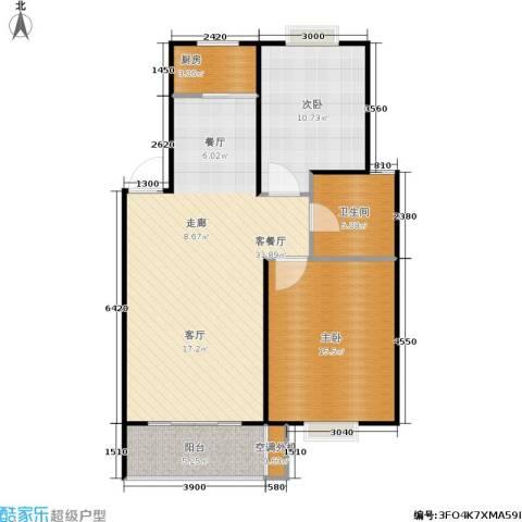 凯莱花园2室1厅1卫1厨86.00㎡户型图