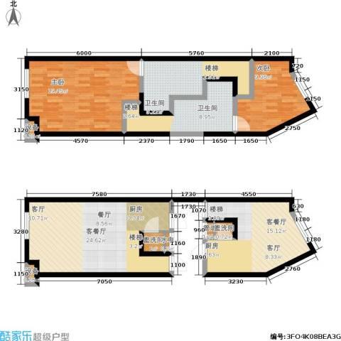 开建阳光馨苑2室2厅2卫0厨131.00㎡户型图