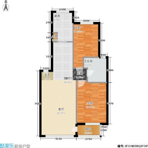北港新城2室1厅1卫1厨82.08㎡户型图