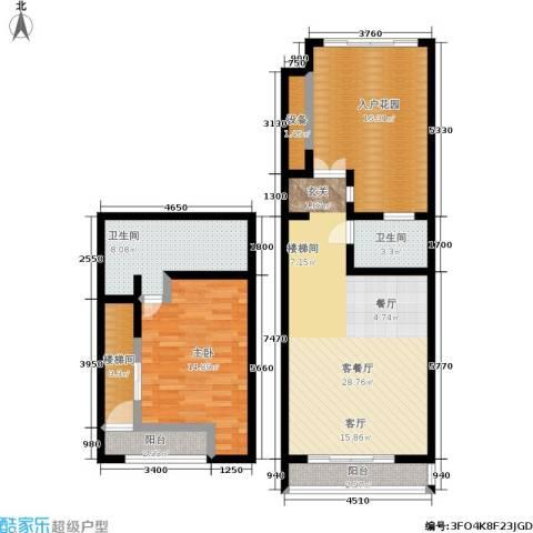 七星小筑温泉度假公馆1室1厅2卫0厨96.00㎡户型图