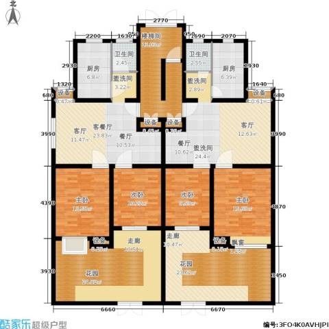 金陵王榭4室1厅2卫2厨179.16㎡户型图