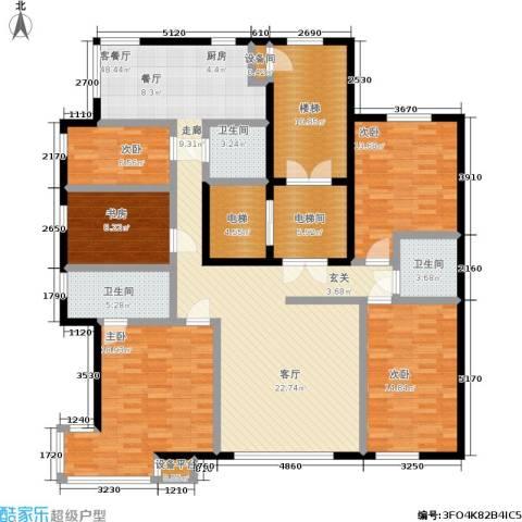 御泉华庭5室1厅3卫0厨187.00㎡户型图