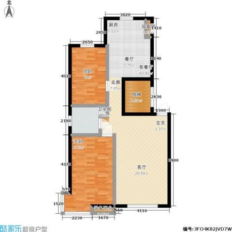 御泉华庭2室1厅1卫0厨103.00㎡户型图