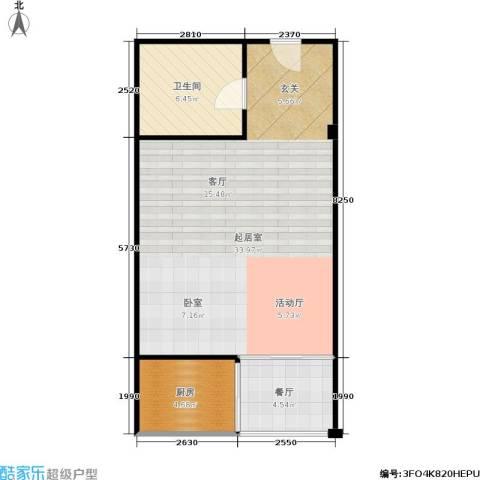 丹尼尔世纪广场1厅1卫1厨53.00㎡户型图