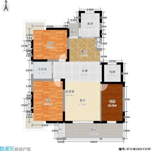 国信・阅景龙华3室0厅1卫1厨115.00㎡户型图