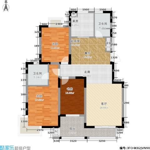 国信・阅景龙华3室0厅2卫1厨131.00㎡户型图