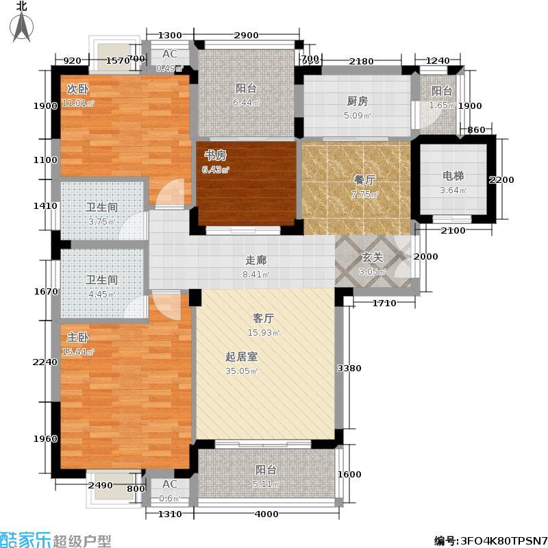 金荣公寓109.59㎡B1户型