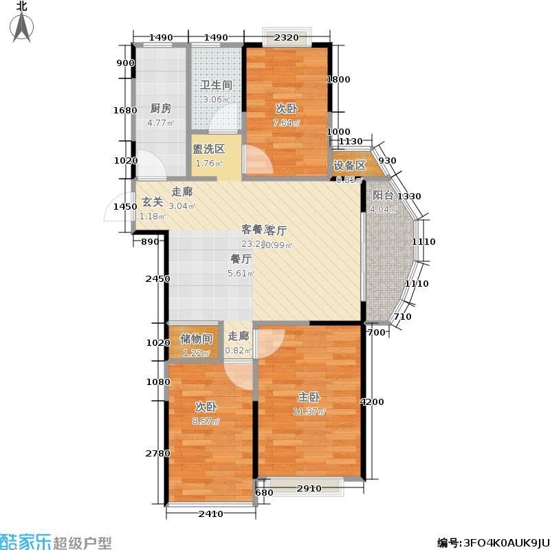 政务区合肥政务区合肥户型3室1厅1卫1厨