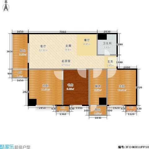 名流.水晶宫3室0厅1卫1厨105.00㎡户型图