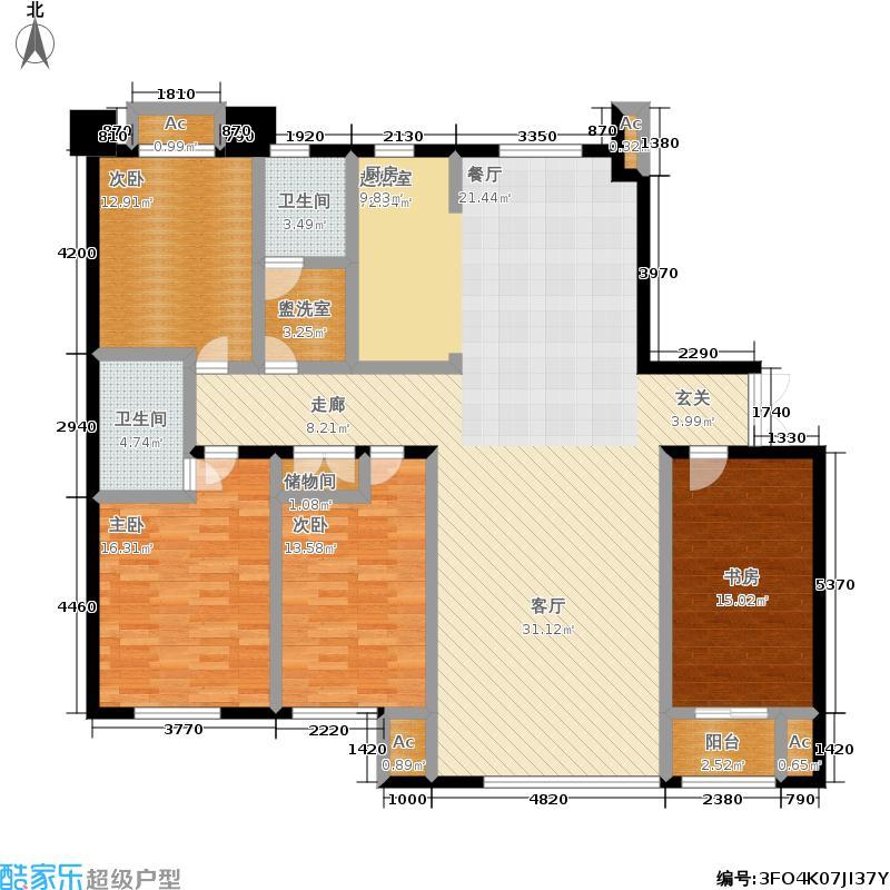 颐和香榭157.00㎡一书房户型
