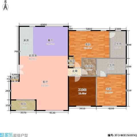 锋尚国际公寓2室0厅2卫0厨190.00㎡户型图