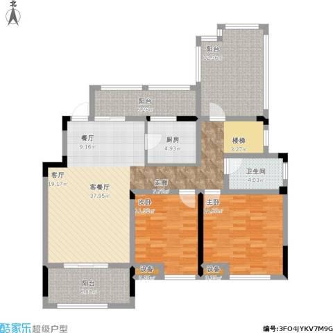 宝能城市广场2室1厅1卫1厨143.00㎡户型图