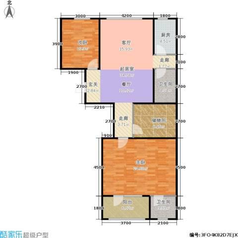 朗诗国际街区2室0厅2卫1厨132.00㎡户型图