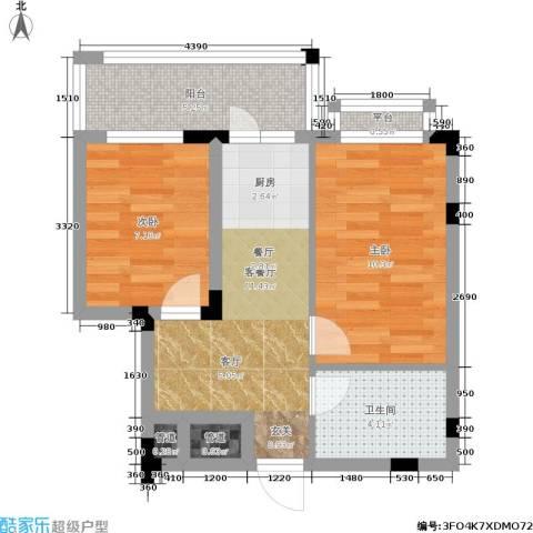 文苑小区2室1厅1卫0厨47.00㎡户型图