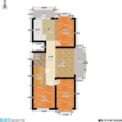 赛丽斯家园3室1厅1卫0厨131.00㎡户型图