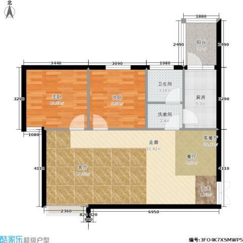 住友・上东印象2室1厅1卫1厨78.00㎡户型图