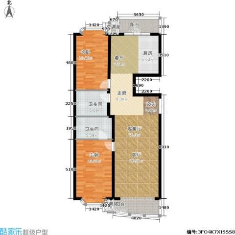 赛丽斯家园2室1厅2卫0厨141.00㎡户型图