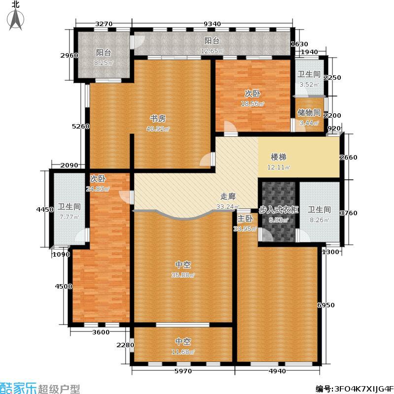 国际御玺513.80㎡6号楼H复式二层户型