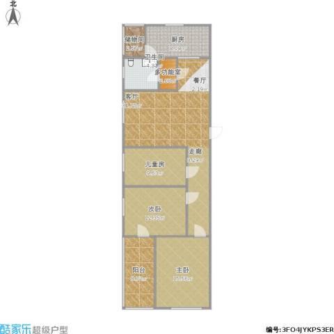 金水湾3室1厅1卫1厨102.54㎡户型图
