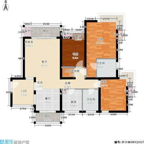翡翠国际社区3室0厅2卫1厨126.00㎡户型图