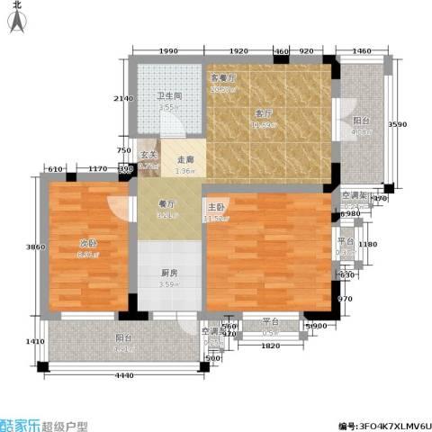 文苑小区2室1厅1卫0厨54.01㎡户型图