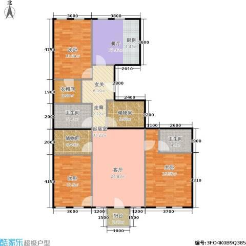 朗诗国际街区3室1厅2卫0厨150.00㎡户型图