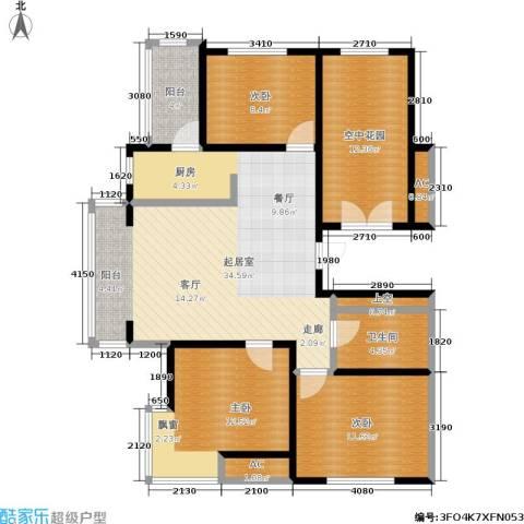 云华园二期3室0厅1卫0厨110.00㎡户型图