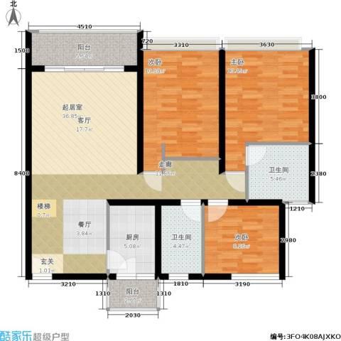 贵格・和顺苑3室0厅2卫1厨94.97㎡户型图