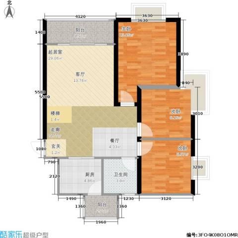 贵格・和顺苑3室0厅1卫1厨83.00㎡户型图