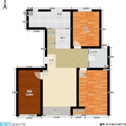 千缘・爱语城3室0厅1卫1厨110.00㎡户型图