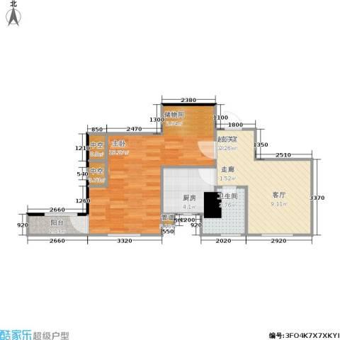 四达新时代广场1室0厅1卫1厨54.00㎡户型图