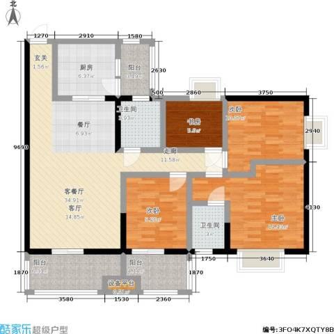 申奥美域 叠翠人家4室1厅2卫1厨150.00㎡户型图