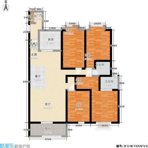 申奥美域 叠翠人家4室1厅2卫1厨182.00㎡户型图