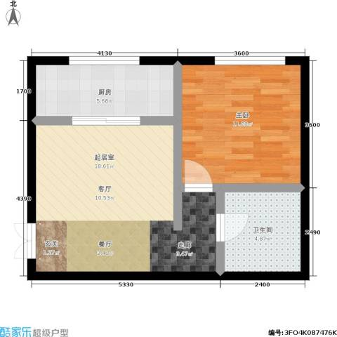 林韵春天1室0厅1卫1厨47.00㎡户型图