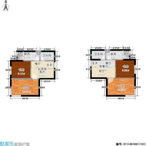 鑫丰又一城4室1厅2卫2厨83.22㎡户型图