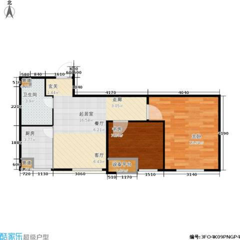 假日国际2室0厅1卫1厨63.00㎡户型图