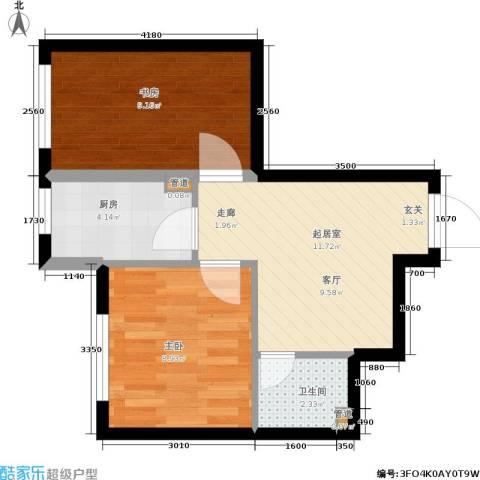 鑫丰又一城2室0厅1卫1厨53.00㎡户型图