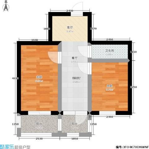 美晨家园2室1厅1卫0厨50.00㎡户型图